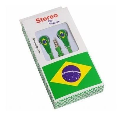 Kit 6 Fone De Ouvido Brasil