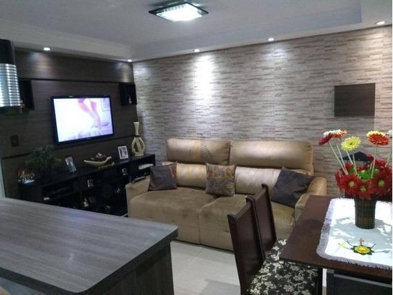 Apartamento Com 2 Dormitórios À Venda, 46 M² Por R$ 190.000 - Centro - Jandira/sp - Ap1014