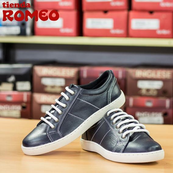 Zapatos Pull Up De Caballero Color Azul Oscuro