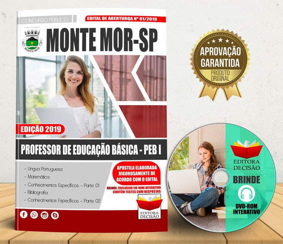 Apostila Monte Mor Sp 2019 - Professor De Educação Básica I