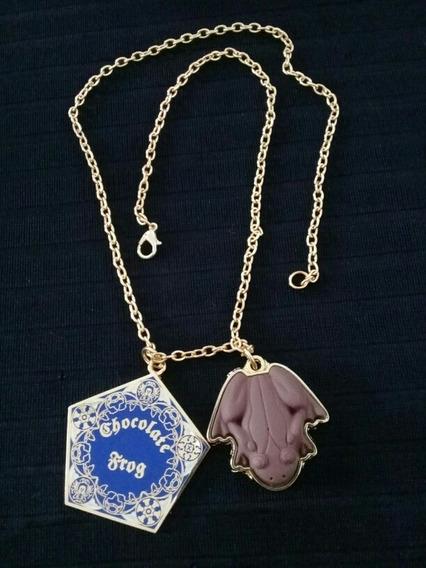 Collar Rana De Chocolate 2 Dijes