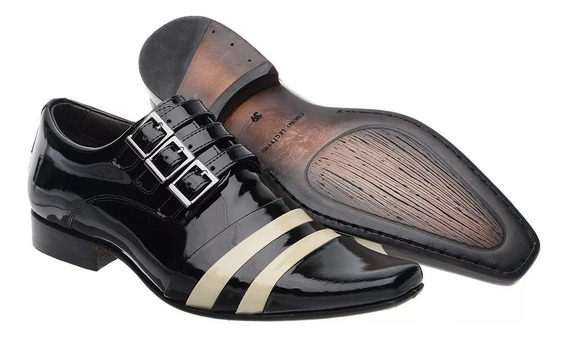 Sapato Social Masculino Em Verniz Luxo Loja Sapatofranca