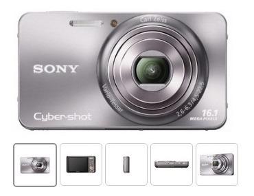 Sony Câmera Digital Dsc-w570 16.1mp - Com Defeito No Visor
