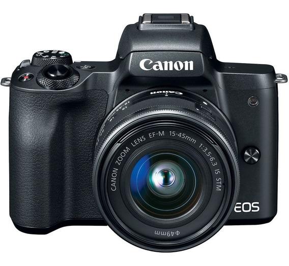 Câmera Canon Mirrorless M50 C/ 15-45mm Garantia Nfe