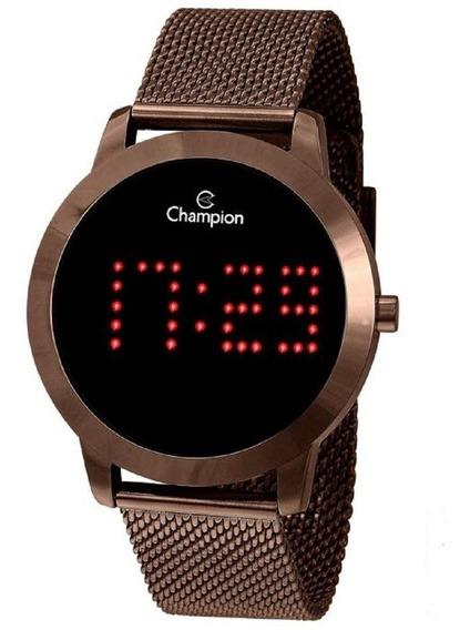 Relógio Champion Digital Led Dourado Feminino Ch40017r