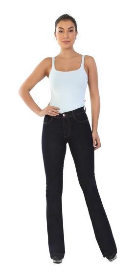 Calça Jeans Feminina Flare Super Lipo Sawary Cintura Alta