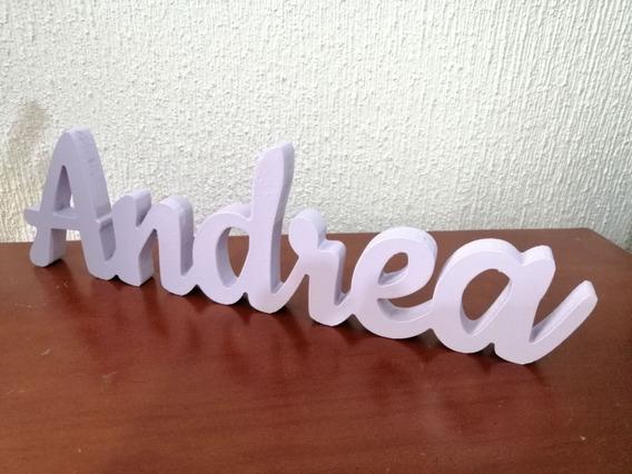 Cualquier Nombre, Letreros En Madera Mdf, Letras 20cm Alto.