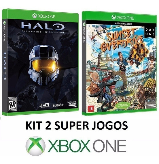 Halo Masterchief + Sunset Overdrive - Midia Fisica Xbox One