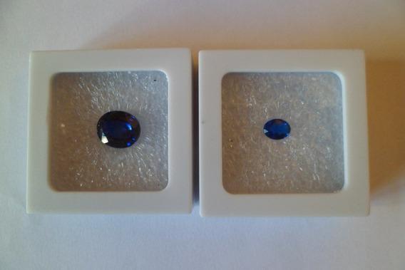 Par De Safiras Azul Cashmir Lapidação Oval 10,5 Ct