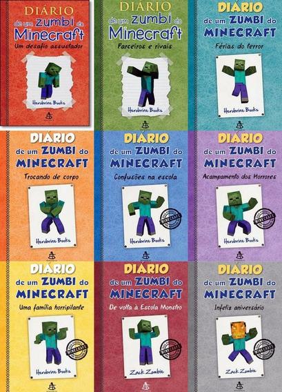 Coleção Diário De Um Zumbi Do Minecraft - 9 Livros