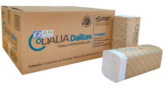 Dalitas Toalla Interdoblada Tipo Sanitas Con 2000