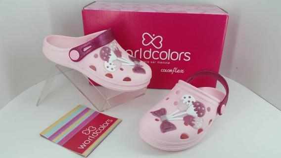 Sandalia Babucha World Colors Pop Baby Fem 124003