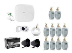 Intelbras Kit Alarme - Amt1016 Net /10 Sensores/ Xat4000lcd