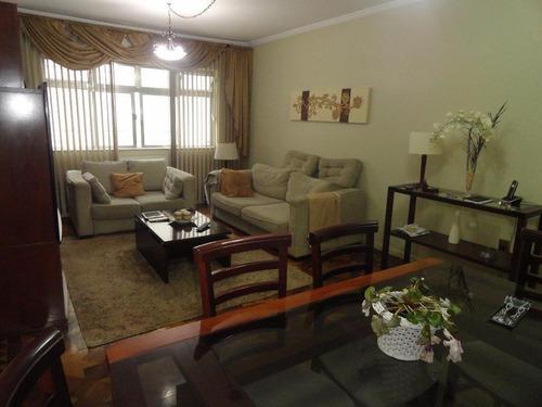 Apartamento Com 3 Dormitórios À Venda, 172 M² Por R$ 695.000,00 - Pompéia - Santos/sp - Ap0707