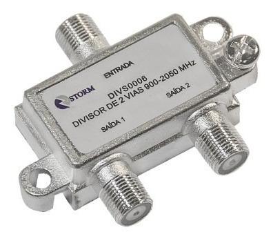 Divisor De Antena 1×2 5-2400mhz Satélite Storm 10unidades