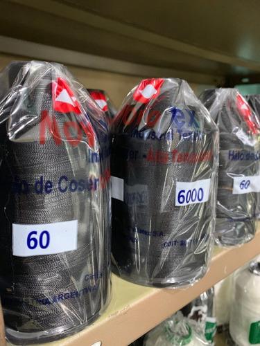 Imagen 1 de 6 de Hilo 60 Negro Cono Mediano Novotex - Casa Siritto