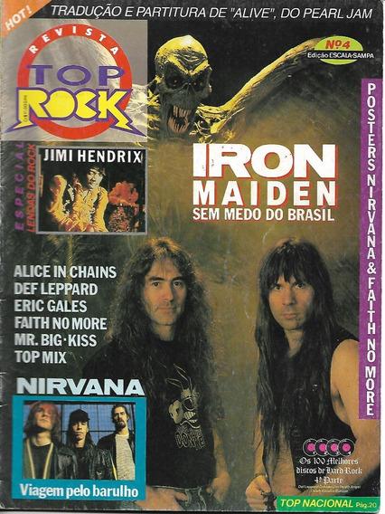 Revista Top Rock 4-nirvana,iron Maiden,def Leppard,dio