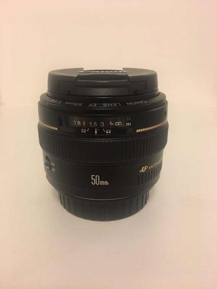 Lente Canon 50mm F1.4, Praticamente Nova