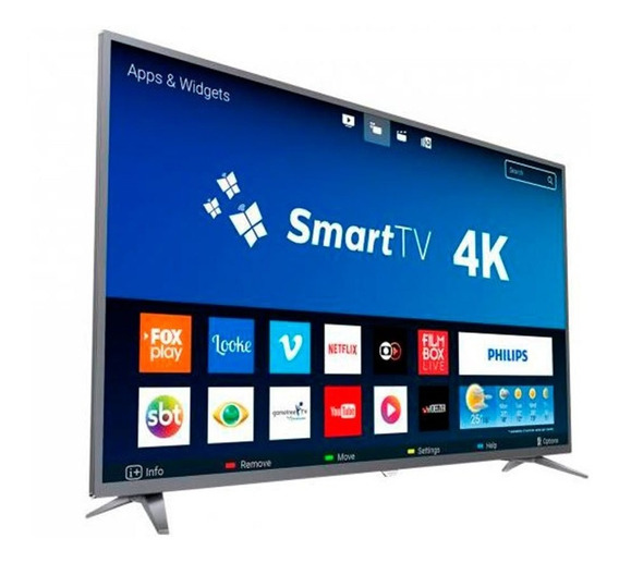 Smart Tv Led 50 Polegadas Philips 50pug6513 Ultra Hd 4k