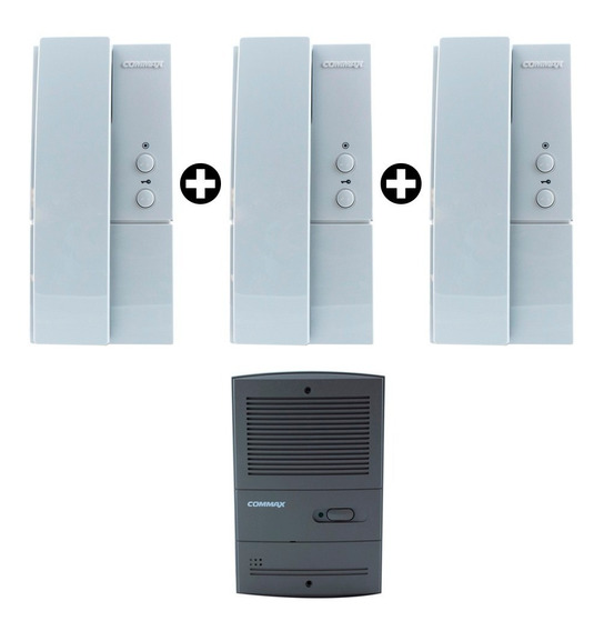 Portero Electrico Commax 3 Telefonos + Frente Embutir