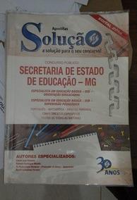 Apostila Solução Secretaria De Educação Mg