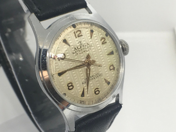 Reloj Alfa Vintage Cuerda Manual Incabloc 17 Joyas Vintage