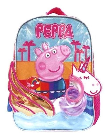 Mochila Peppa Pig Unicornio 3d 12 Pulgadas Espalda Cresko