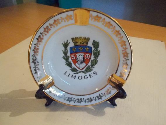 Cenicero Porcelana Limoge Pastaud France Impecable !!