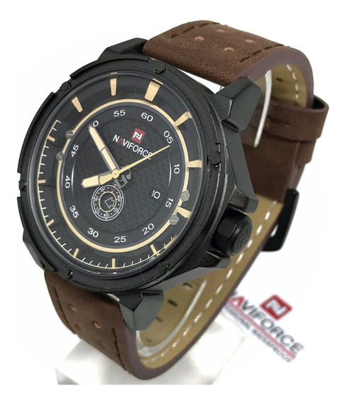 Relogios Masculinos Naviforce Militar Racer Couro Nf9083