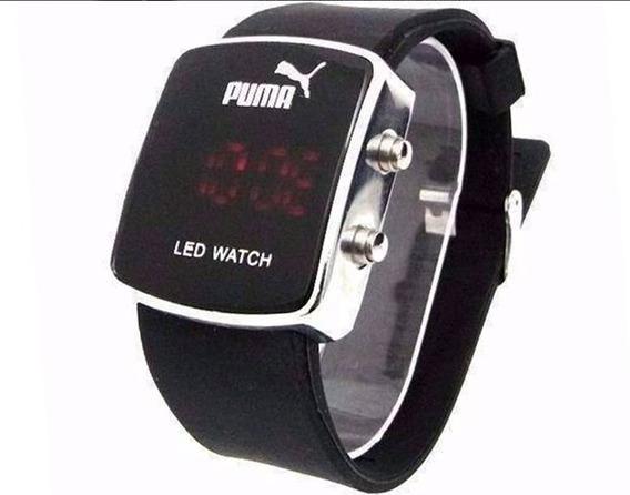 Relógio Esportivo Digital Led Colorido Tipo Puma Unissex