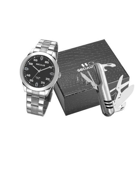 Kit Relógio Masculino Seculus 28976gosvna1
