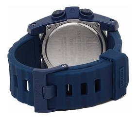 Pulseira Nixon The Unit Borracha Azul A490307 22mm