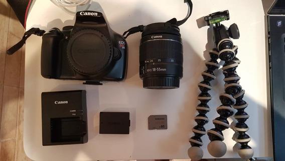 Câmera Canon Rebel T3 + Tripé, Cartao 16gb E Case