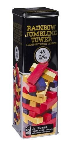 Torre En Lata De Equilibrio Color Spin 98365r Tipo Jenga Edu