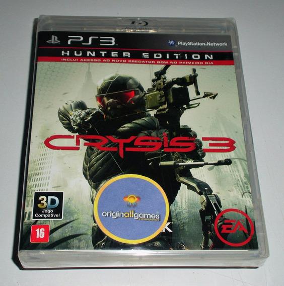 Crysis 3 Hunter Edition ¦ Jogo Ps3 Original Lacra ¦ M Física