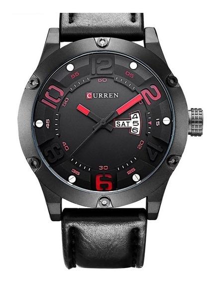 Relógio Curren 8251 Couro Prova D