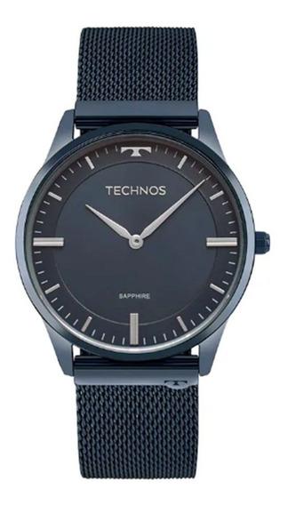 Relógio Technos Slim Safira Esteira Unissex Azul 9t22an/4a