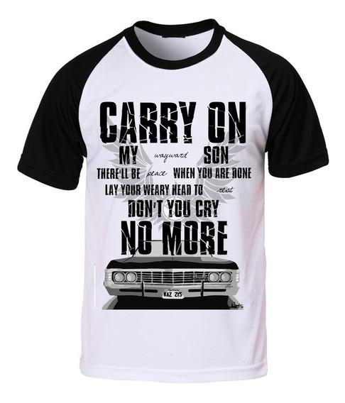 Camiseta Supernatural Sobrenatural Carry On Wayward Son