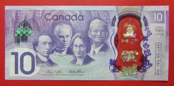 Canada Billete Polimero 10 Dólares 2017 P-112 Sin Circular