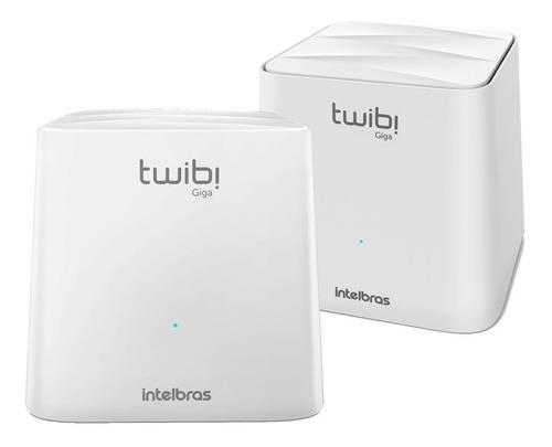Imagem 1 de 4 de Kit 2 Roteadores Wireless Mesh Dual Band Twibi Giga +