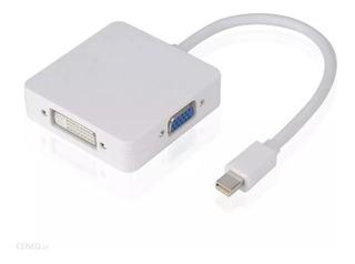 Cable Adaptador Mini Display Port A Hdmi - Vga - Dvi 3 En 1