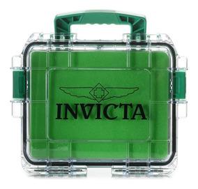 Maleta Invicta Verde Transp. - P/3 Rel. (slots, Caixa, Tank)