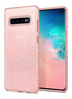 Capa Premium Spigen® Liquid Crystal Glitter Galaxy S10
