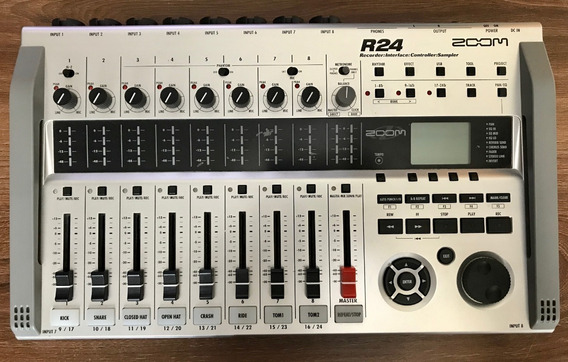 Zoom R24 Mesa Gravadora, Mixer E Interface De Áudio - Usado