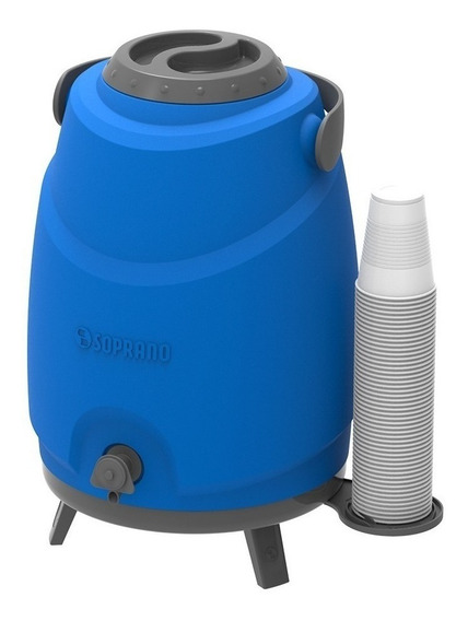 Bidon Termico Soprano Dispenser 9lt Porta Vasos Frio Calor