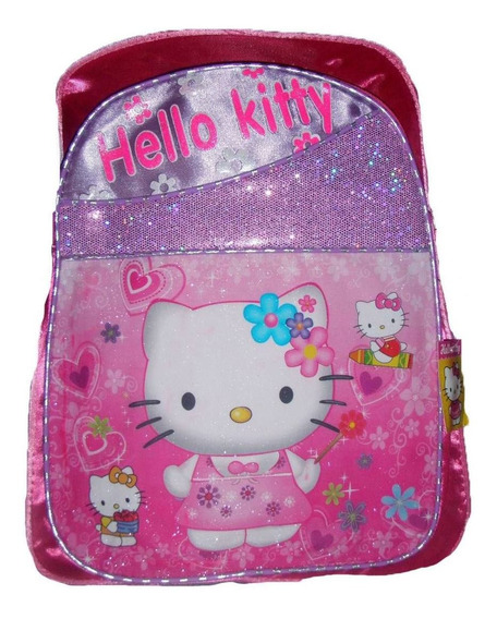 Mochila Infantil Hello Kitty Fucsia Brillitos Grande