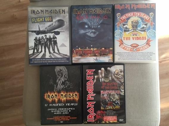 Lote Com 5 Dvds Iron Maiden - Originais - Novos