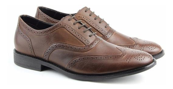 Sapato Social Masculino Couro Legitimo Feito A Mão Perlatto