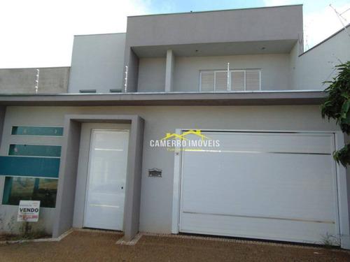 Casa Com 3 Dormitórios À Venda, 220 M² Por R$ 800.000,00 - Terras De Santa Bárbara - Santa Bárbara D'oeste/sp - Ca1214