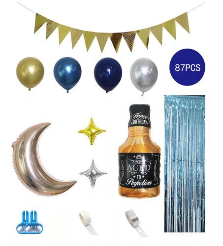 Imagen 1 de 7 de Kit De 87 Globos Para Decoración De Fiesta De Cumpleaños, Co